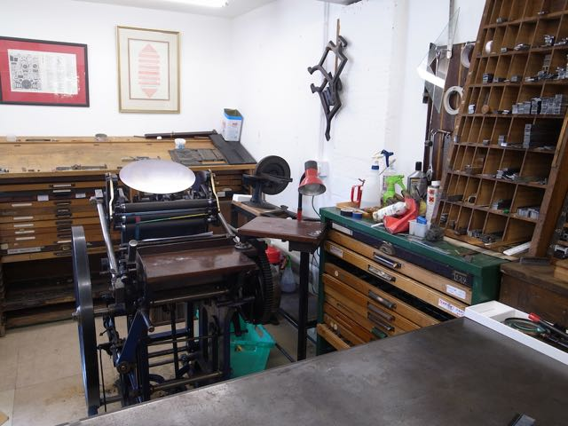 The Arab Press was invented by Josiah Wade of Halifax in 1872. Although Wade died in 1910, some 40,000 of these presses were manufactured up to 1959, when production ceased. My 'Arab' that I bought from the Badenoch Printers in 1996 had been in continuous use for over seventy five years, and is still in immaculate condition, having been most carefully cared for since 1900. The press is also of particular interest as it starred in the BBC production of 'The Wipers Times', a documentary, written by Ian Hislop, about the production of a newspaper on the front line at Ypres, during WW1.